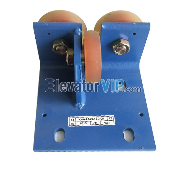 K-AAA24180AW, Otis Roller Guide Shoe, OTIS Elevator Counterweight Guide Shoe, Otis 76*22*6203 Guide Shoe, KAAA24180AW, KAA24180AW, AAA24180AW, Cheap OTIS Counterweight Guide Shoe, OTIS Lift Guide Shoe Manufacturer