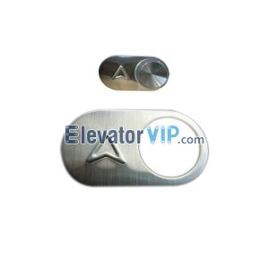 Elevator Spare Parts Mirror Surface / Hairline Push Button BR27A, OTIS Lift Push Button Manufacturer & Supplier EEV323BA