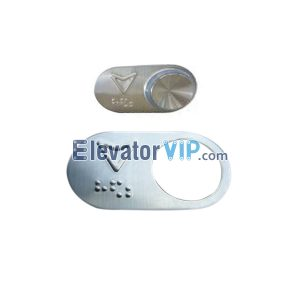 Elevator Spare Parts Mirror Surface / Hairline Push Button BR27A(B) with Braille, OTIS Lift Braille Push Button Manufacturer & Supplier EEV323BB