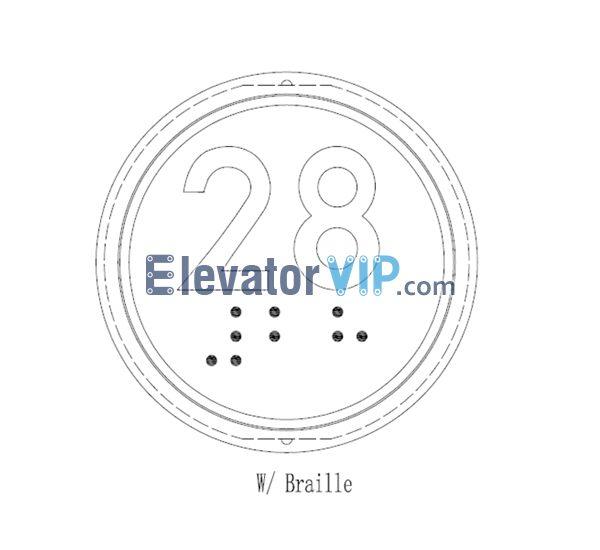 Otis Elevator Spare Parts BR34C(B) Braille Button XAA323DD998, Elevator COP Braille Button, Elevator BR34C(B) Braille Button Online, OTIS Elevator COP Braille Button Supplier, Cheap Elevator COP Braille Button for Sale, Elevator Hall Calling Board Button BR34C(B) Braille, Elevator Hall Calling Board Braille Button Manufacturer, Wholesale Elevator Hall Calling Board Braille Button, Elevator Hall Calling Board Braille Button Factory