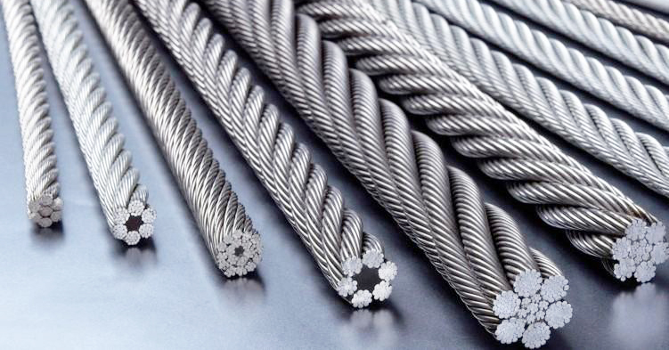 Elevator accessories - selection of steel rope