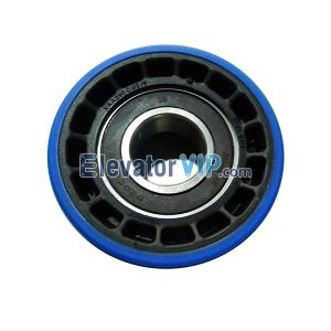 Escalator Spare Parts Step Drive Roller OD:80mm ID:25mm Thickness:25mm Bearing 6205-2RS, OTIS Escalator Step Chain Roller Supplier XAA290CM2