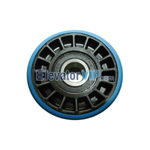 Escalator Spare Parts 508 Step Drive Roller OD:76.2mm Thickness:22mm Bearing 6203-2RS, OTIS Escalator Step Roller Supplier XAA290CY2