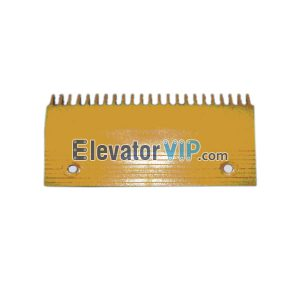 Escalator Spare Parts 22 Teeth PC Comb Plate (Left Part) Yellow L204.3mm, OTIS Escalator Comb Plate Supplier XAA453AZ1