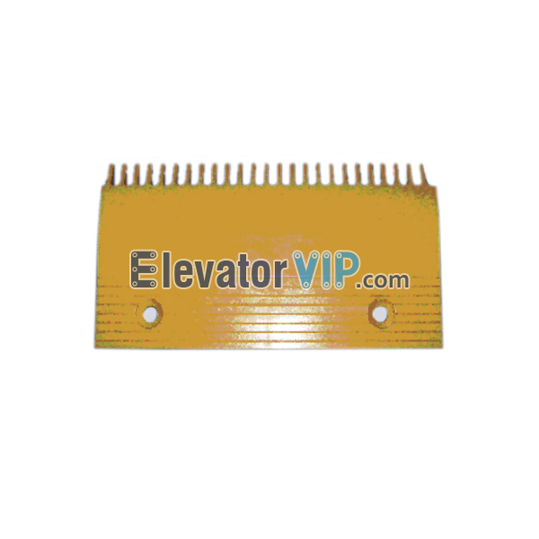 Escalator Comb Plate 25 Teeth PC Material, Escalator Comb Plate Yellow, Escalator Comb Plate Length 214.2mm, OTIS Escalator Comb Plate, Escalator Comb Plate Supplier, Escalator Comb Plate Manufacturer, Escalator Comb Plate Exporter, Cheap Escalator Comb Plate for Sale, Wholesale Escalator Comb Plate, Escalator Comb Plate Factory Price, XAA453C3
