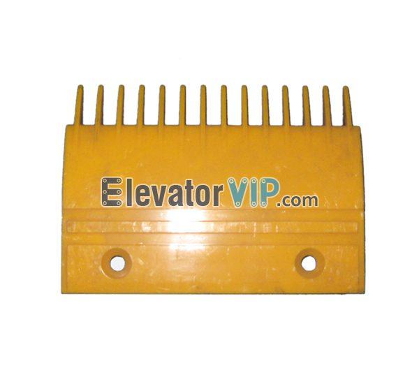 Escalator FT Comb Plate, FO Escalator Comb Plate, Escalator Right Comb Plate, Escalator Comb Plate 14 Teeth PC Material, Escalator Comb Plate Yellow, Escalator Comb Plate Length 204.3mm, OTIS Escalator Comb Plate, Escalator Comb Plate Supplier, Escalator Comb Plate Manufacturer, Escalator Comb Plate Exporter, Cheap Escalator Comb Plate for Sale, Wholesale Escalator Comb Plate, Escalator Comb Plate Factory Price, XAA453P2