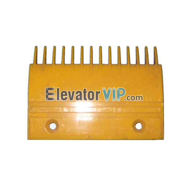 Escalator FT Comb Plate, FO Escalator Comb Plate, Escalator Right Comb Plate, Escalator Comb Plate 14 Teeth PC Material, Escalator Comb Plate Yellow, Escalator Comb Plate Length 204.3mm, OTIS Escalator Comb Plate, Escalator Comb Plate Supplier, Escalator Comb Plate Manufacturer, Escalator Comb Plate Exporter, Cheap Escalator Comb Plate for Sale, Wholesale Escalator Comb Plate Supplier, Escalator Comb Plate Factory Price, XAA453P2