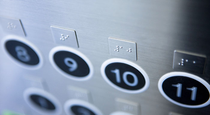 Some types of COP button in elevator car you should know Braille button for special people