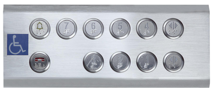 Some types of COP button in elevator car you should know disabled operation panel for special people