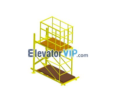 Temporary elevator hoistway working platform, Working Platform for Elevator Hoistway, Working Platform in Hoistway, Elevator Hoistway Working Platform Supplier, especial equipment for elevator install in hoistway, XAA27AAC1, XWE221D04