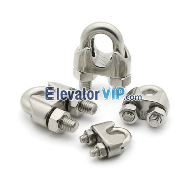 U-Bolt Wire Rope Clip for Elevator Industry, 304 Stainless Steel ...