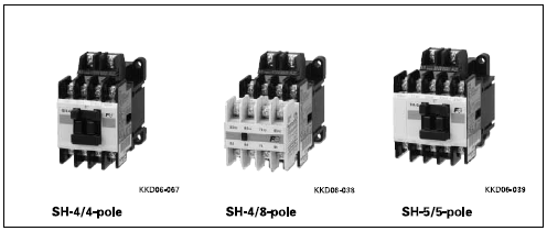 Fuji Relay Model Selection (SH Series)