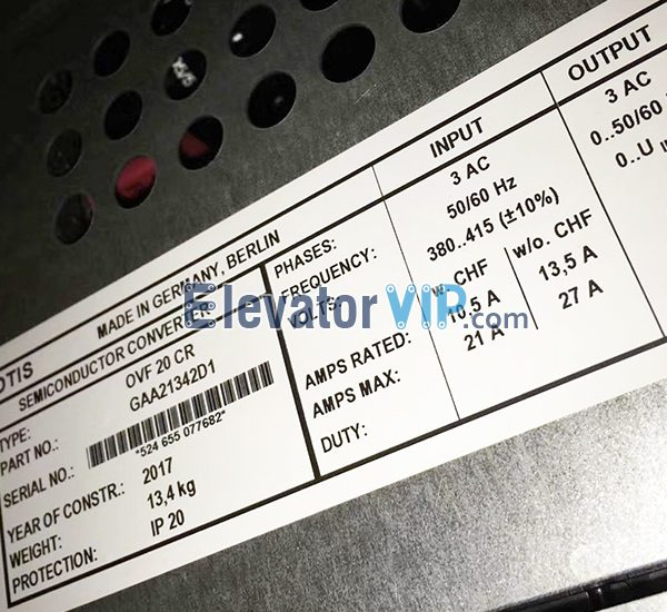 OTIS Elevator Frequency Inverter OVF20, Elevator Frequency Inverter OVF20, Elevator Frequency Inverter OVF20 Supplier, Elevator Frequency Inverter OVF20 Manufacturer, Wholesale Elevator Frequency Inverter OVF20, Elevator Frequency Inverter OVF20 Factory Price, Elevator Frequency Inverter OVF20 Exporter, Cheap Elevator Frequency Inverter OVF20 Online, Buy Quality Elevator Frequency Inverter OVF20, 100% Original New Elevator Frequency Inverter OVF20, GAA21342D1