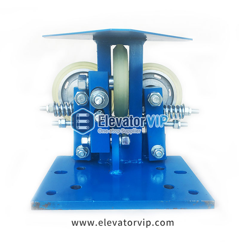 How to install and adjust Elevator Roller Guide Shoe (www.elevatorvip.com)