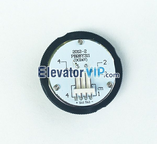 PB28Y311, KA313, OTIS Elevator Push Button, OTIS Lift Button DC24V, Elevator Push Button with Orange Red Light, Lift Push Button with Braille, Elevator Stainless Steel Push Button, 37mm Hole Elevator Button, OTIS Push Button with 4-Pin Wire Connector, OTIS Elevator Push Button Manufacturer, Elevator Push Button Factory Price, Wholesale Lift Push Button
