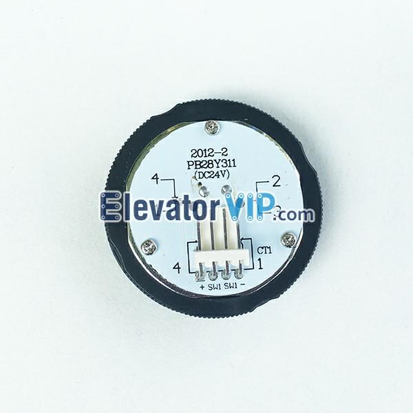 PB28Y311, KA313, OTIS Elevator Push Button, OTIS Lift Button DC24V, Elevator Push Button with Orange Red Light, Lift Push Button with Braille, Elevator Stainless Steel Push Button, 37mm Hole Elevator Button, OTIS Push Button with 4-Pin Wire Connector, OTIS Elevator Push Button Manufacturer, Elevator Push Button Factory Price, Wholesale Lift Push Button