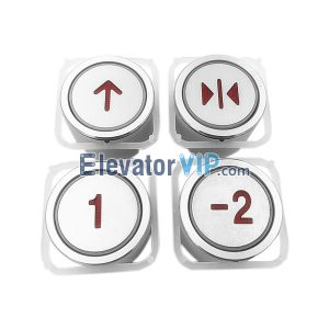 Elevator Spare Parts Fuji Elevator AK-4CB 64611-B Push Button A4J10382A3, Lift Round Push Button MTD210 / BA216 / BA21G with Factory Price