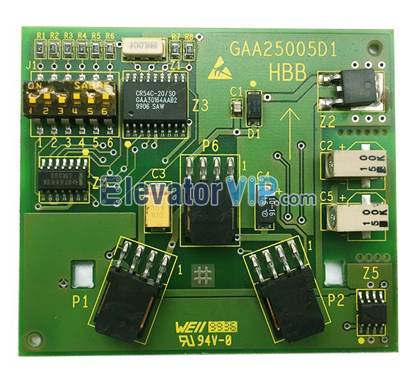 OTIS Remote Station Board, HBB Board, Lift HBB Printed Circuit Board, Elevator HBB PCB, OTIS Lift HBB Board Manufacturer, Cheap HBB Elevator Board, GAA25005D1, GAA25005D2, GBA25005D1, GBA25005D2, GBA610YZ1, GAA610YZ1, GAA30164AAB2