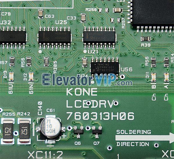 KONE Elevator PCB Board, KONE LCEDRV 760313H06, KONE Lift 385 Board, KM760310G01, KONE LCEDRV Board, LCEDRV760313H06, KONE Elevator PCB Board Manufacturer, KONE Elevator KM760310G01 Factory Price