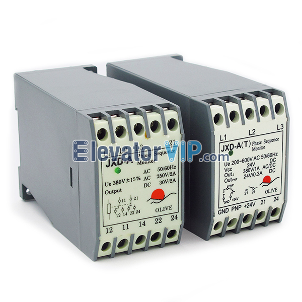 Schindler Phase Sequence Monitor, Elevator Phase Sequence Monitor, Elevator Relay, Cheap Schindler Relay, JXD-A(T), Schindler JXDAT, High Quality Phase Sequence Monitor, Phase Sequence Monitor Factory Price
