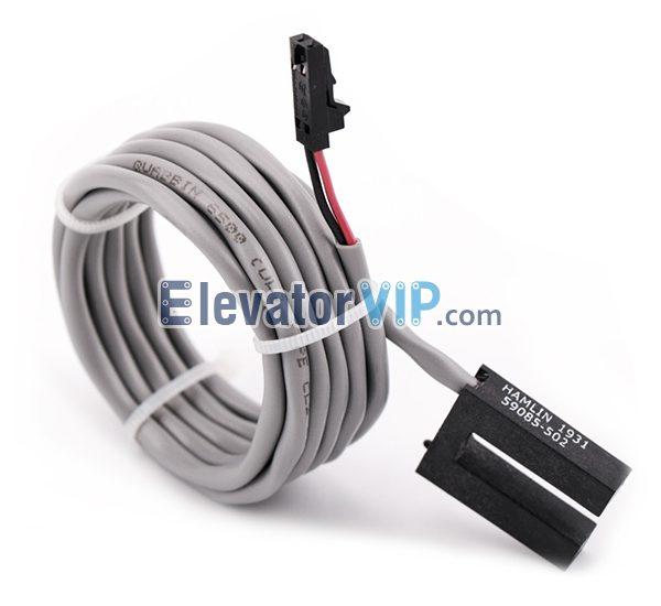 Schindler Elevator Magnetic Switch, Schindler Lift Brake Sensor for QKS9-1VF Door Motor, HAMLIN Magnetic Switch, 59085-502, Schindler ID 207433, Schindler Lift Proximity Sensor