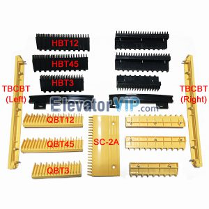 Escalator Spare Parts Fushili MEILUN Escalator Yellow Step Demarcation Plastic Strip TBCBT / HBT12 / HBT3 / HBT45 / QBT12 / QBT3 / QBT45 / Black Curved