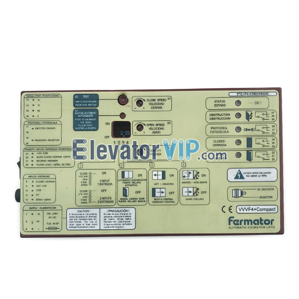 Fermator VVVF4+, Fermator VVVF5 Controller, Fermator Door Controller VVVF 5, Fermator +VF5 Door Inverter, SCH Elevator Car Door Operator, Fermator VVVF4 Door Box, VVVF4+Compact, Fermator Automatic Doors for Lifts, Fermator Door Drive, Fermator Door Controller with Factory Price, Fermator Lift Door Inverter, Fermator Door Controller for Passenger Elevator, Fermator Door Inverter in United Kingdom