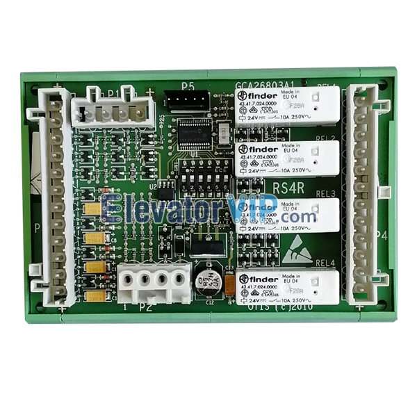 OTIS Escalator Remote Station Motherboard, OTIS Escalator RS4R Board, OTIS Signal Mainboard, GCA26803A1, GBA26803A1, GAA26803A1, OTIS Escalator RS4R PCB Board for Sale, Cheap Escalator RS4R Board with Factory Price