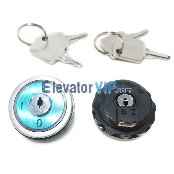 KONE Elevator COP Key Switch, KONE Lift LOP Keyswitch, OSS Key Switch, OCL Key Switch, KM747076G11, KONE Elevator Key Switch, Elevator Key Switch Supplier, Cheap Elevator Key Switch with Factory Price