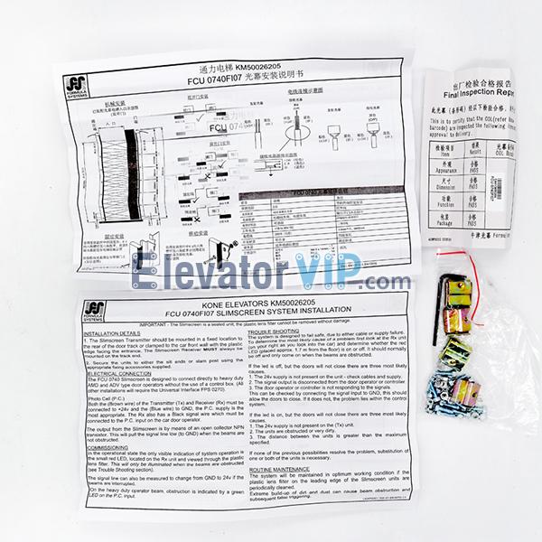 KONE Elevator Light Curtain, Elevator Light Curtain Detector, Lift Door Sensor, Elevator Door Slimscreen Transmitter, KONE Elevator Slimscreen Receiver, KONE Light Curtain, KONE Elevator Door Sensor, FCU0735RX, FCU0735TX, FCU0740RX, FCU0740TX, KM50026205, KM1353398, KM897294, KM273449, KM50036576, Elevator Light Curtain Supplier, KONE Light Curtain in India, Cheap Elevator Light Curtain with Factory Price, High Quality KONE Elevator Door Light Curtain Sensor