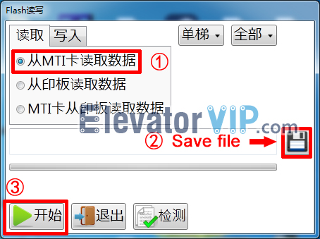 Saving file of Reading program by Mitsubishi MTS-II Software