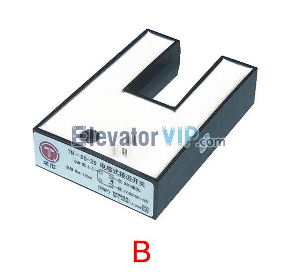 KONE Elevator Photoelectric Sensor, KONE Elevator Cabin Leveling Sensor, Lift Leveling Inductive Proximity Sensor, Elevator Leveling Inductive Proximity Switch, Elevator U Shape Sensor, TN.DS-25, Elevator Sensor PNP, Elevator Sensor NPN, KONE Elevator Sensor 61U, KONE Elevator Sensor 61N, KM86420G03, KM785150G01