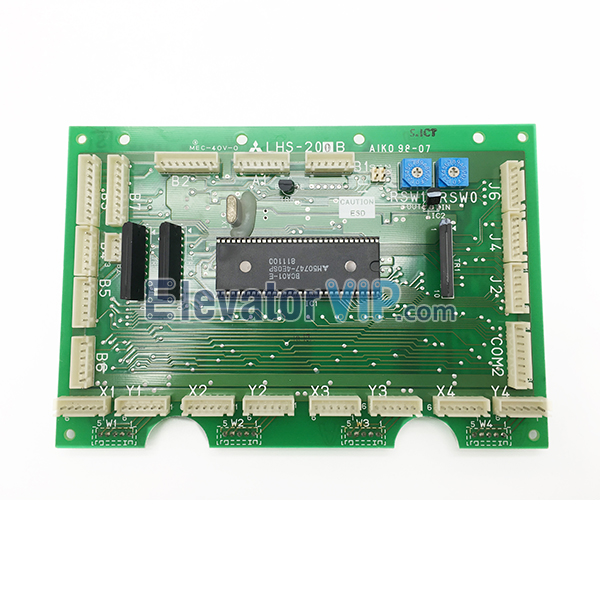 Mitsubishi Elevator Car Communication Board, Mitsubishi COP Control Board, Mitsubishi Cabin Communication PCB Board, Mitsubishi Lift GPS PCB Board, Mitsubishi Elevator Communication Board with Factory Price, LHS-200B, LHS-200C, LHS-202B