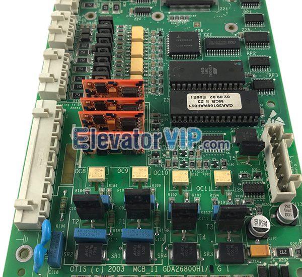 OTIS Elevator OVF20 Inverter Motherboard, OTIS Elevator OVF20 Drive Board, MCB-II Board, Otis MCB2 PCB, OTIS MCB_II Board, GBA26800H1, GBA26800H2, GCA26800H1, GCA26800H2, GDA26800H1, GDA26800H2