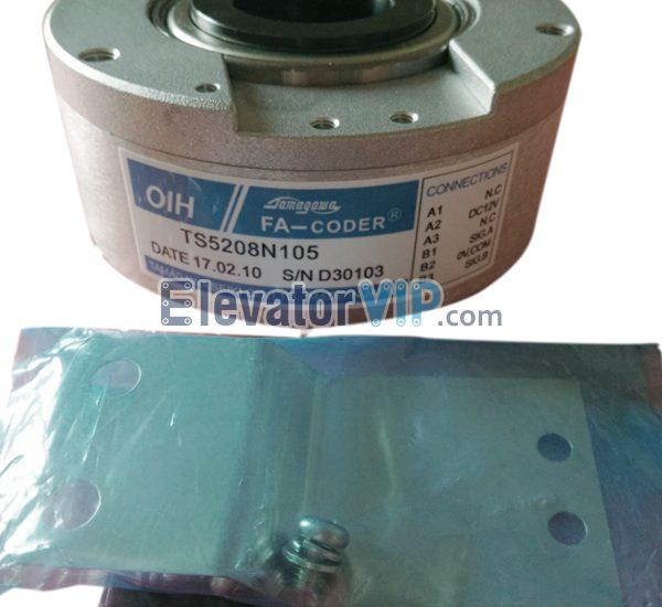 Fujitec Elevator Rotary Encoder, Elevator Traction Machine Encoder, Tamagawa Rotary Encoder, FA-CODER Encoder, Lift Main Motor Encoder, TS5208N103, TS5208N105, Elevator Encoder Supplier