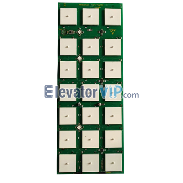 3300 Elevator COP Touch Push Button Board, Elevator Touch Push Button PCB, SCOPCA 5Q, ID.NR.591890, ID.NR.594100