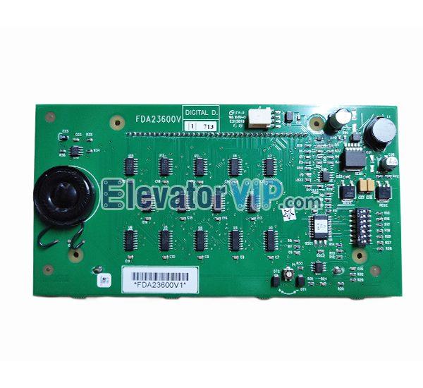 Otis Elevator LCD Display Board, Otis Lift LOP Indicator Motherboard, Otis Elevator Hall Indicator, HPI13 Display, Otis France HOP Display, FDA23600V1, FBA23600V1, Otis Elevator Display Board Supplier