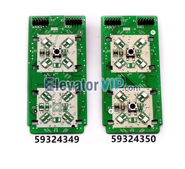 3300 Elevator HOP Push Button Board, 3600 Lift LOP Push Button PCB, 59324349, 59324350