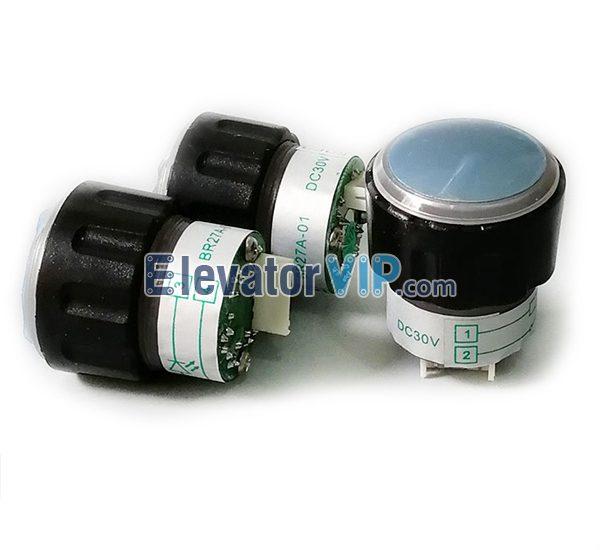 OTIS Elevator Stainless Steel Push Button, OTIS Elevator Round Push Button, BR27A-01, Elevator Push Button Supplier