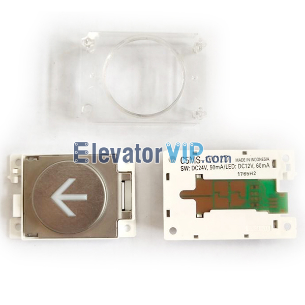 C5MS-1W12D, C5MS-1PW12D, C5MS-1B12D, KAN-J1810B, Mitsubishi Elevator HOP Push Button, Mitsubishi Elevator LOP Push Button