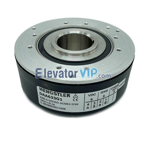 Otis Elevator 13VTR Driver Encoder, Hengstler Encoder, DAA633G1, RI80-E 1024AO.1K30R4 5769, SBH2-1024-2MD-13, Otis Lift Traction Machine Encoder