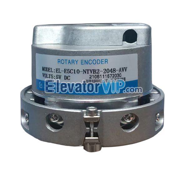 Elevator Synchronous Drive Rotary Encoder, Elevator Rotating Encoder, Substitute ERN1387 Encoder, Replace ERN1387 Elevator Encoder, EL-E5C10-NTVB2-2048-AVV