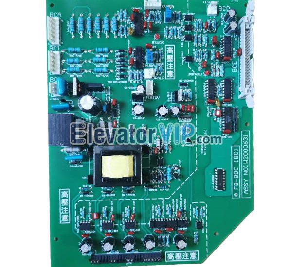 Hitachi Elevator Drive Board, FB-BDC [B0] PCB, W2000631