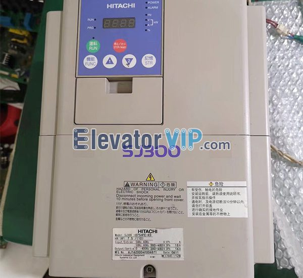 Hitachi Elevator SJ300 Inverter, Hitachi SJ300 Inverter Supplier, SJ300-075HF-GH, SJ300-110HF-GH, SJ300-150HF-GH, SJ300-185HF-GH