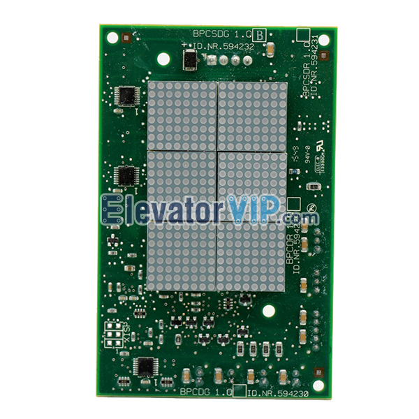 SCH 5400 Elevator LOP Display, SCH Elevator HOP Display PCB, SCH Lift Display Board, ID.NR.594229, ID.NR.594230, ID.NR.594231, ID.NR.594232