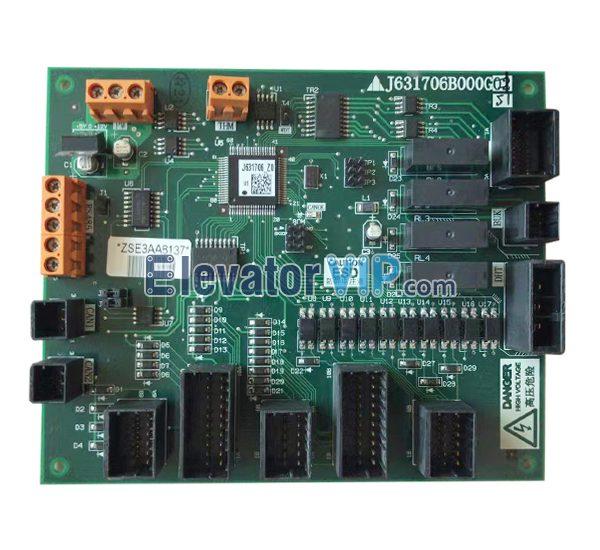 Mitsubishi Escalator Control Board, J631706B000G51, J631706B000G01, J631706B000G02, J631706B000G11, J631706B000G52, J631706B000G62