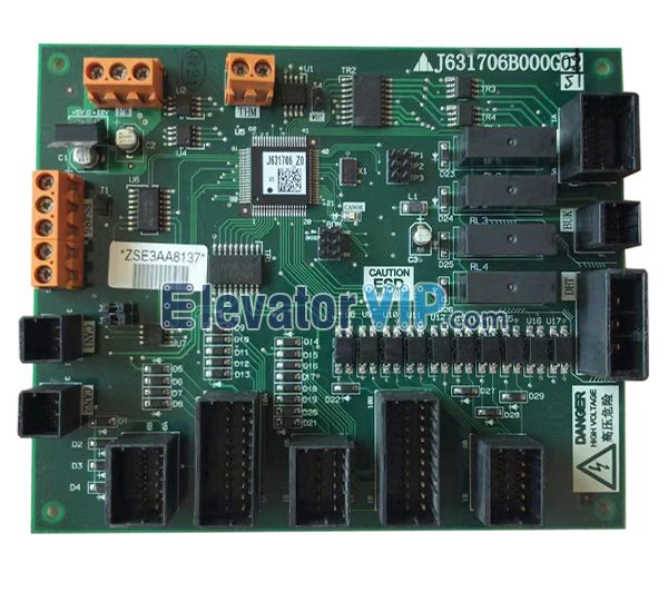 Mitsubishi K-type Escalator Control PCB, Mitsubishi Escalator Control Board, J631706B000G51, J631706B000G61, J631706B000G01, J631706B000G02