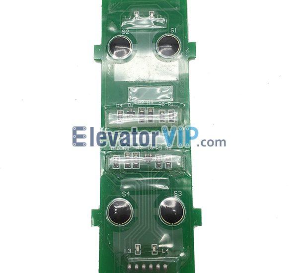 KONE Elevator Push Button Board, KONE Elevator Duplex Push Button PCB, 720573H02, KM720570G01, Elevator Push Button Board Supplier, KONE Elevator Push Button