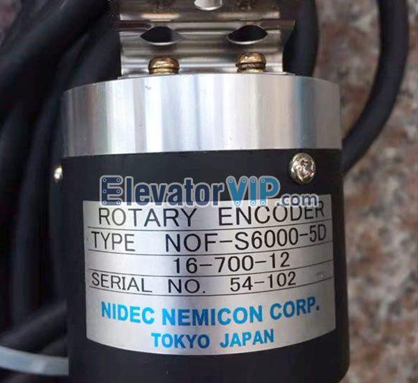 NOF-S6000-5D, 16-700-12, 32-700-11B, Hitachi Elevator Rotary Encoder, Hitachi MRL Lift Encoder, Hitachi Machine-Room-Less Rotary Encoder, Elevator Rotary Encoder Supplier