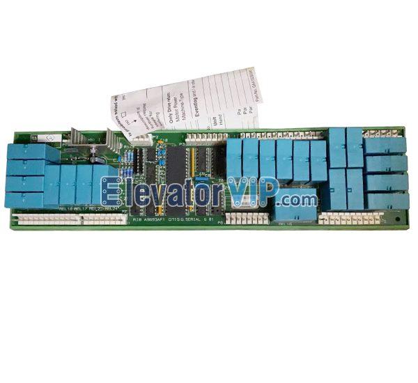 OTIS INTERFACE RELAYS CONTROL MCS, OTIS Elevator Cabin Command Interface Board, A9693AF1